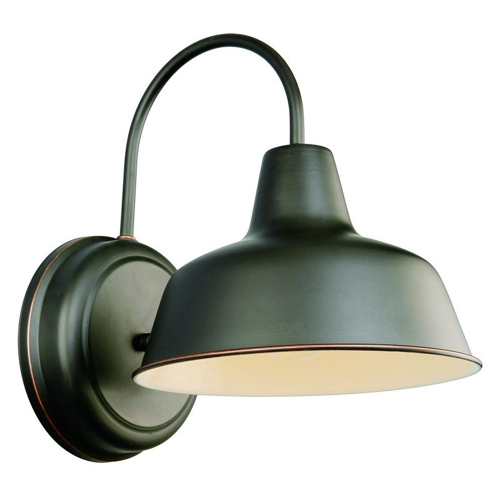 Design House Mason Rlm Oil-Rubbed Bronze Outdoor Wall-Mount Dark-Sky with regard to Outdoor Lanterns at Pottery Barn (Image 2 of 20)