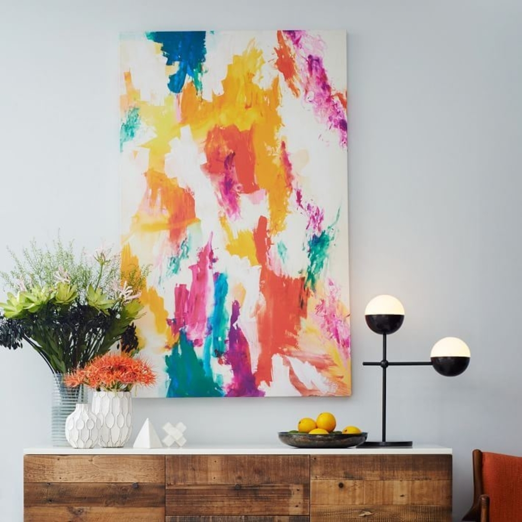 Design Ideas: Abstract Wall Art From West Elm – Color Your World Within West Elm Wall Art (View 19 of 20)
