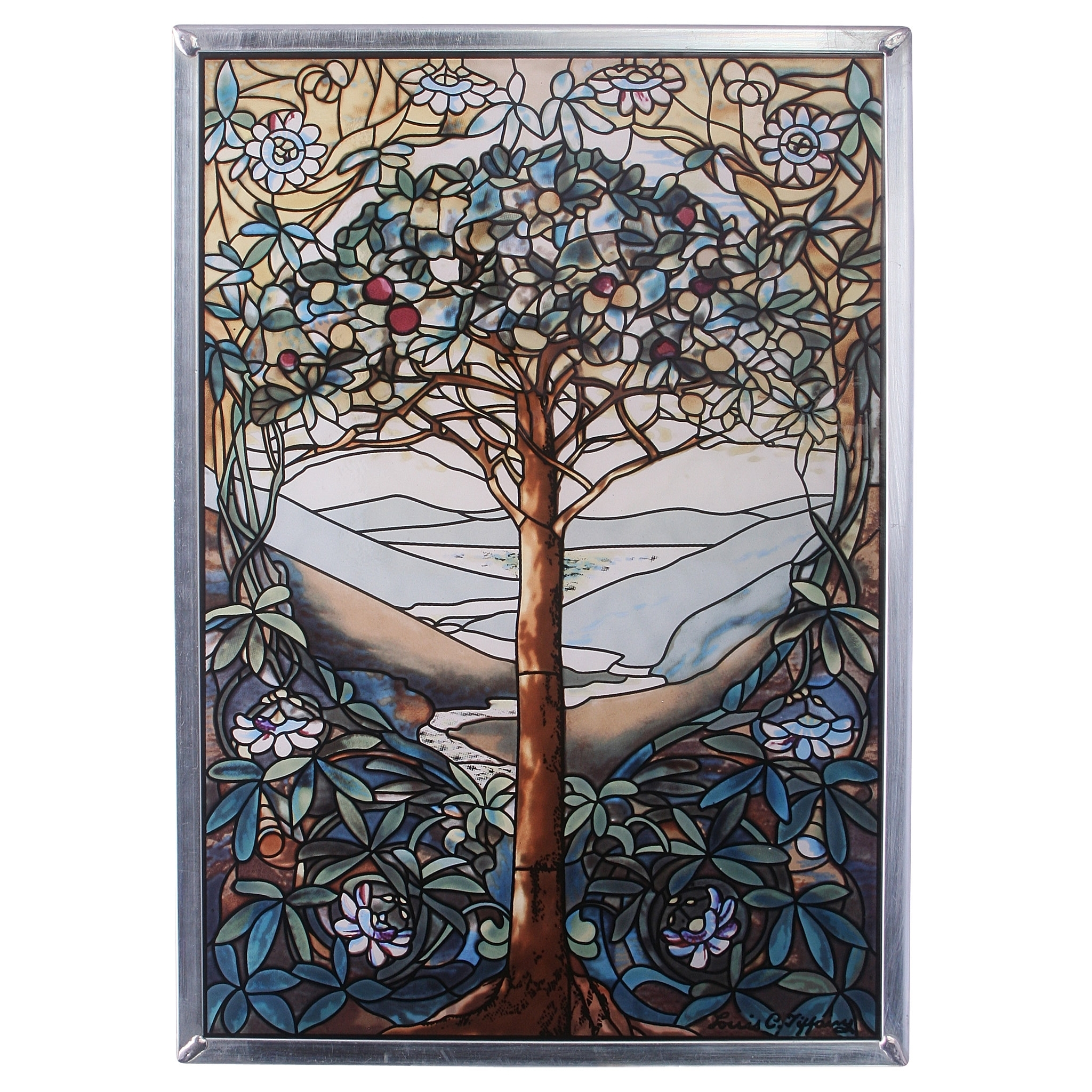 Design Toscano Tree Of Life Art Glass Wall Décor & Reviews | Wayfair Within Stained Glass Wall Art (View 8 of 20)