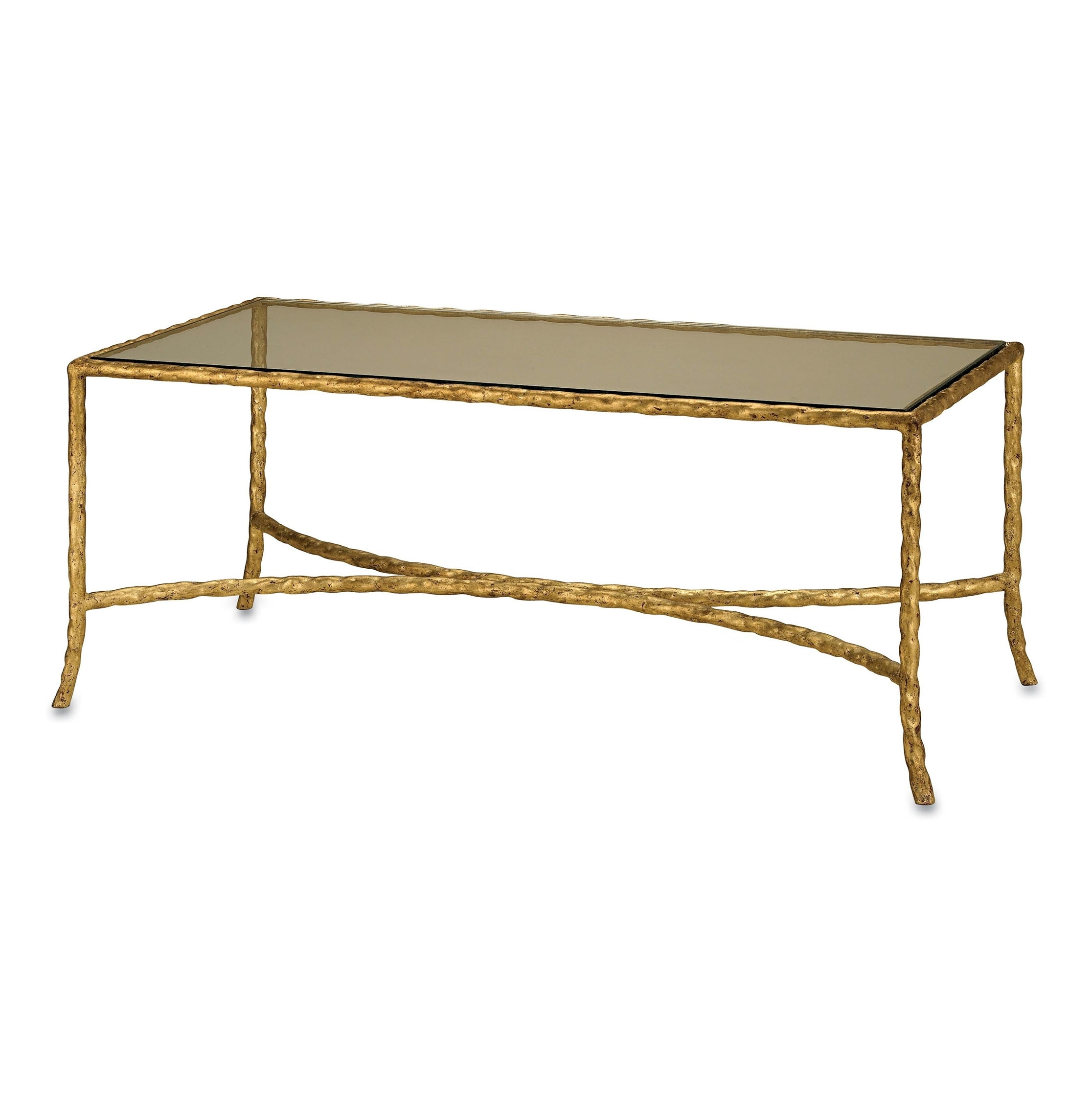 Designer Coffee Tables - Eclectic Coffee Tables | Kathy Kuo Home regarding Rectangular Brass Finish And Glass Coffee Tables (Image 9 of 30)