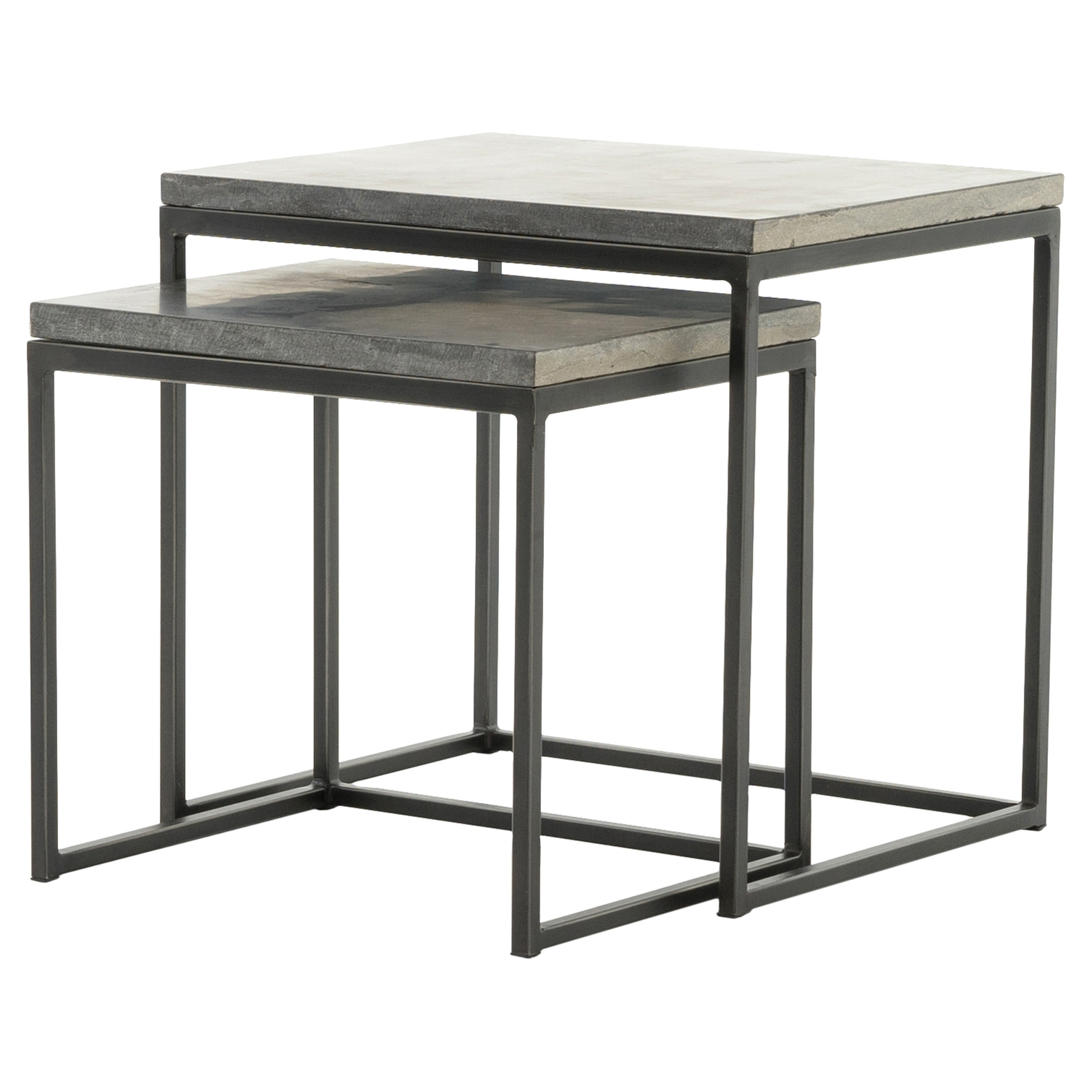 Designer Side & End Tables - Eclectic Side & End Tables | Kathy Kuo Home for Aged Iron Cube Tables (Image 12 of 30)