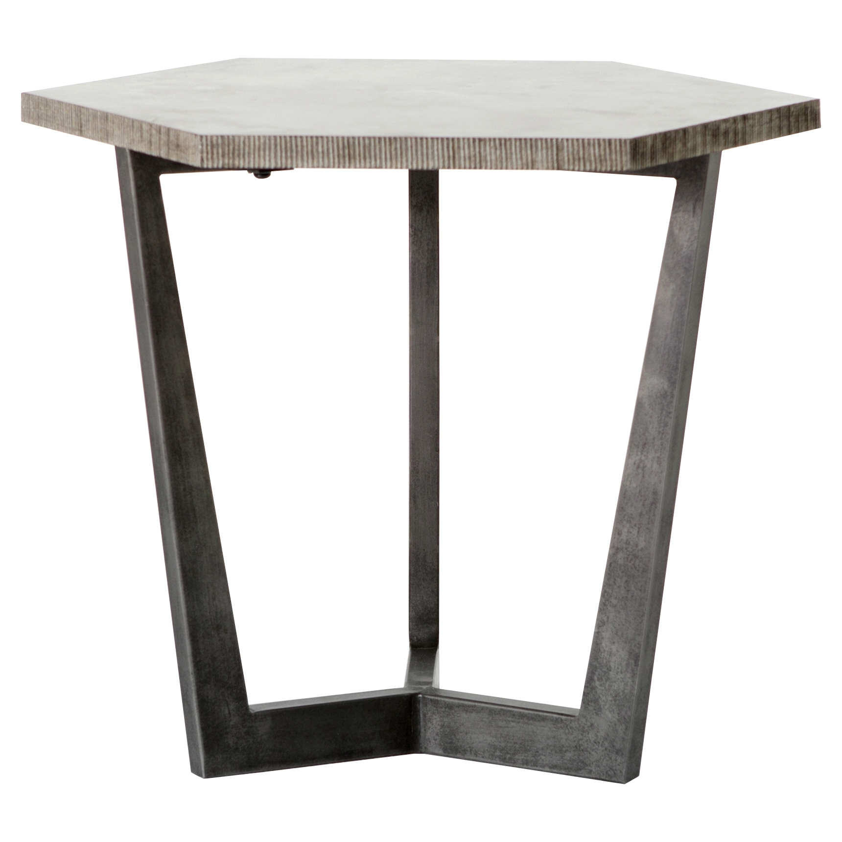 Designer Side & End Tables - Eclectic Side & End Tables | Kathy Kuo Home within Aged Iron Cube Tables (Image 17 of 30)