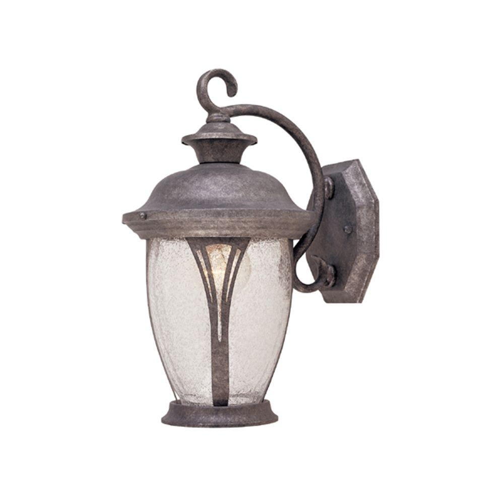 Designers Fountain Thatcher Collection Rustic Silver Outdoor Wall Intended For Silver Outdoor Lanterns (View 4 of 20)