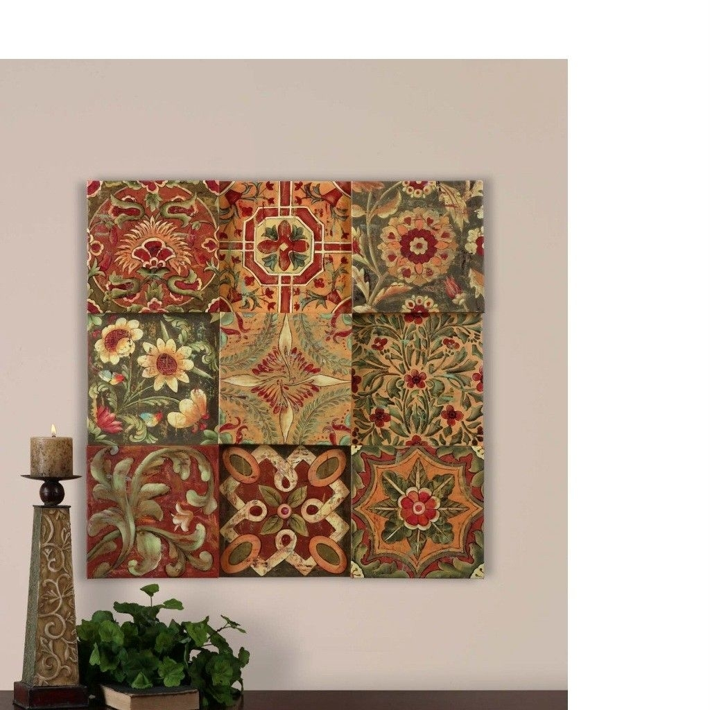 Details About Wall Blocks French Country Tuscan Wall Decor ~ | Home Throughout Tuscan Wall Art (View 15 of 20)