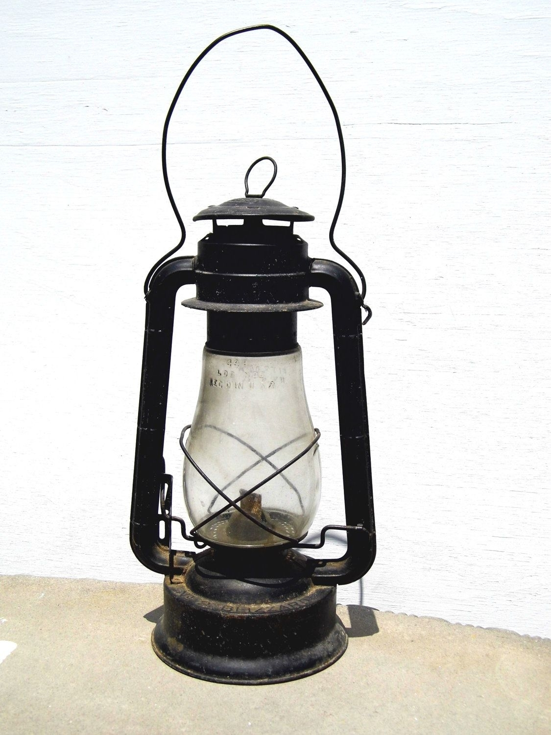 Dietz Lantern, Vintage Lantern, Railroad Lantern, Antique Lantern in Outdoor Railroad Lanterns (Image 7 of 20)