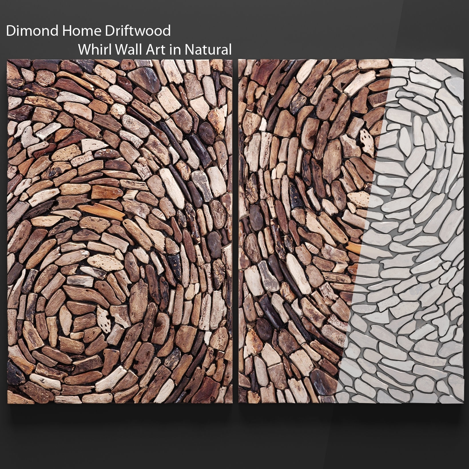 Dimond Home Driftwood Whirl Wall Art In Natural 3D Model Max Obj Fbx inside Driftwood Wall Art (Image 5 of 20)