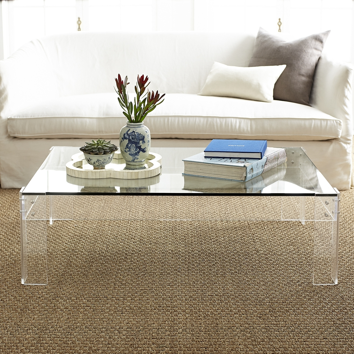 Disappearing Coffee Table | Wisteria Pertaining To Stately Acrylic Coffee Tables (View 10 of 30)