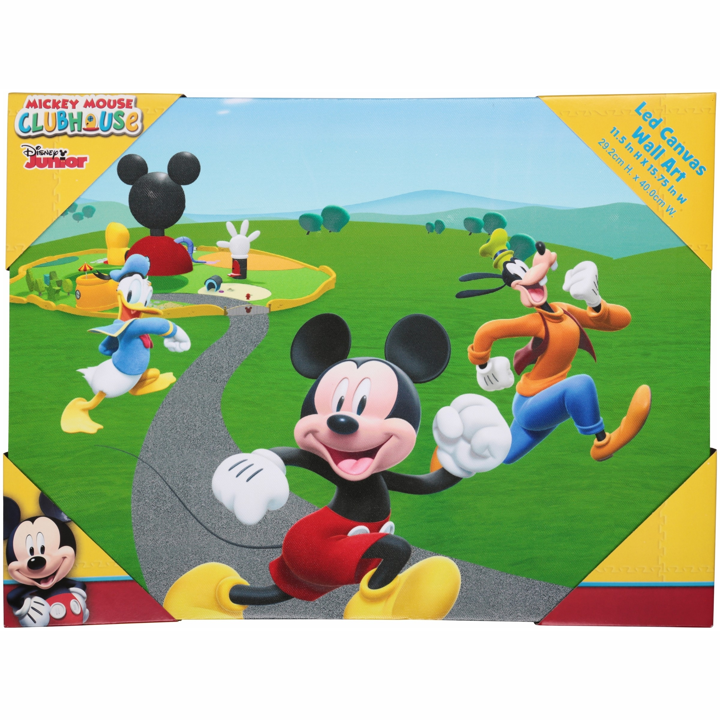 Disney Junior Mickey Mouse Clubhouse Led Canvas Wall Art - Walmart regarding Mickey Mouse Canvas Wall Art (Image 5 of 20)