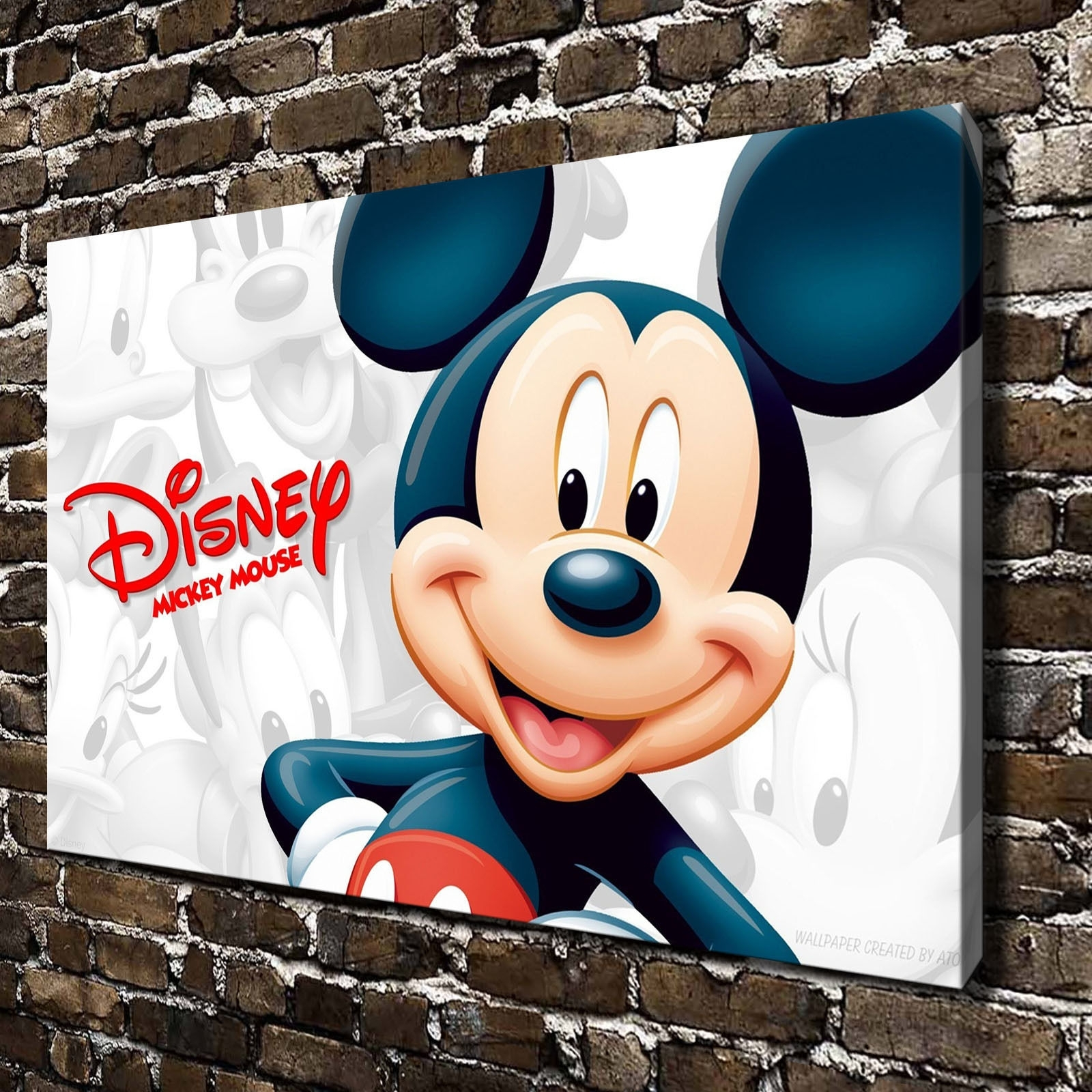 Disney Mickey Mouse Paintings Hd Print On Canvas Home Decor Wall Art regarding Mickey Mouse Canvas Wall Art (Image 8 of 20)