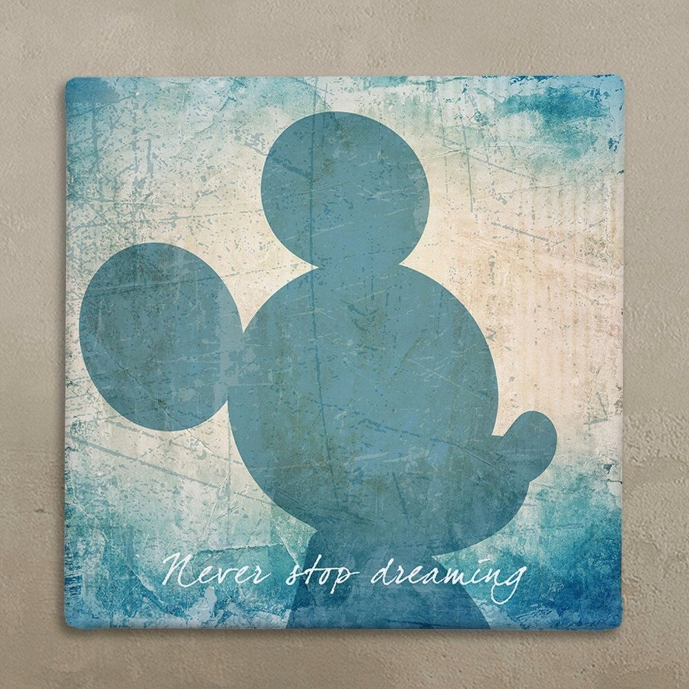 Disney Wall Art Canvas In Vintage Style Mickey Mouse Within for Mickey Mouse Canvas Wall Art (Image 9 of 20)