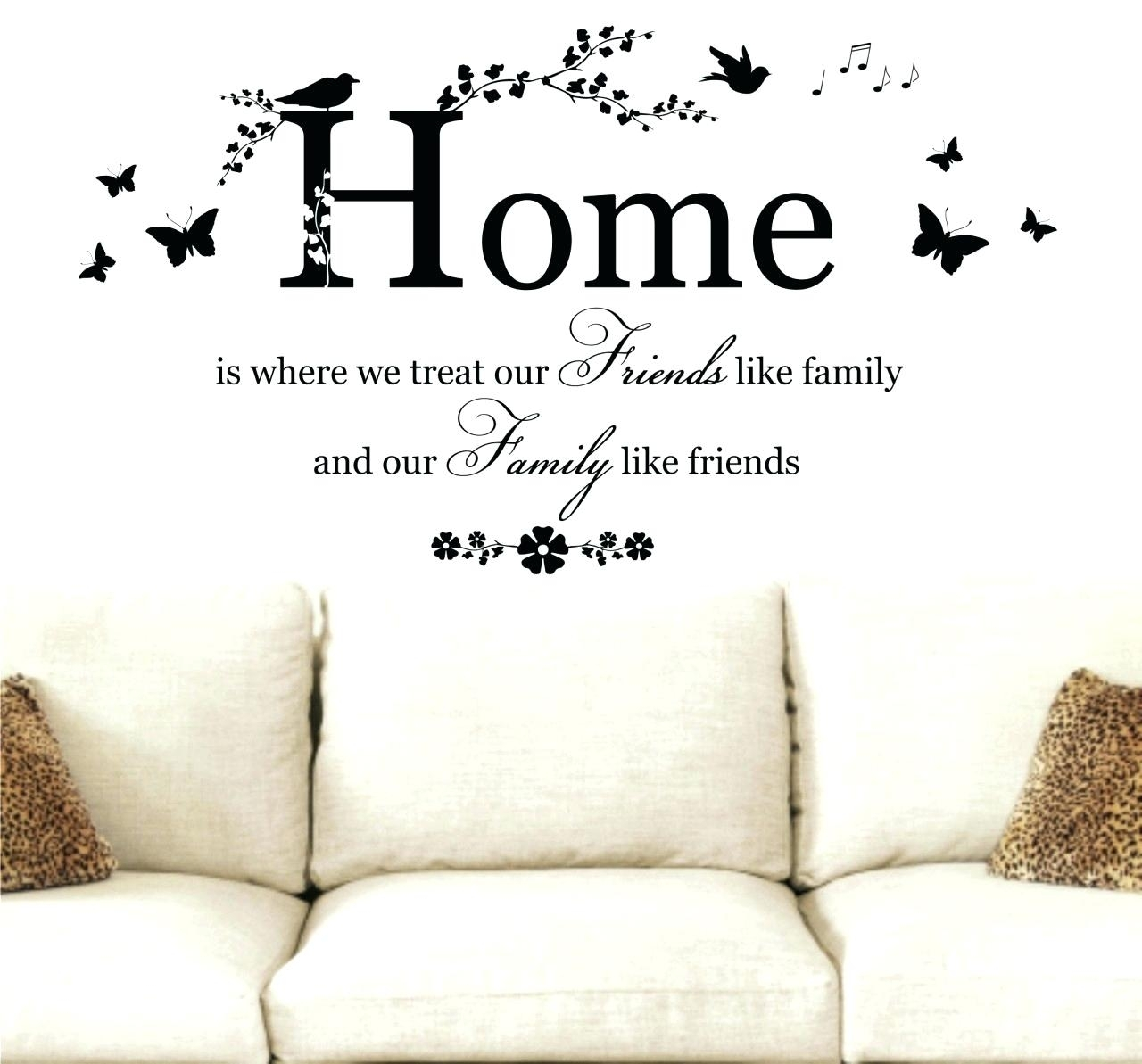 Disney Wall Quotes Decals Wall Arts Family Sayings Wall Art Sayings Within Wall Art Sayings (View 4 of 20)