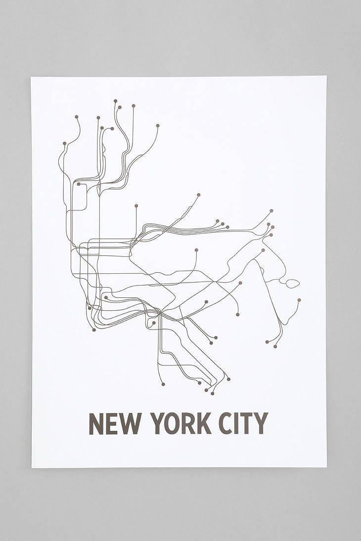 Displaying Gallery Of Nyc Subway Map Wall Art View 5 20 Photos Showy Regarding New York Subway Map Wall Art (View 10 of 20)