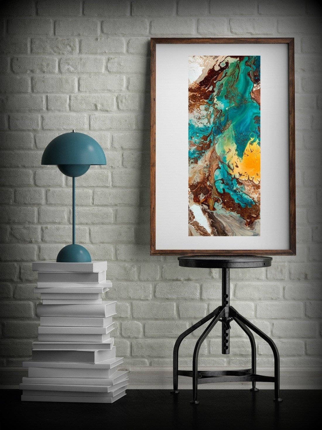 Distinguished Canvas Wall Decor Large Abstract Wall Art Print Blue with regard to Abstract Oversized Canvas Wall Art (Image 7 of 20)