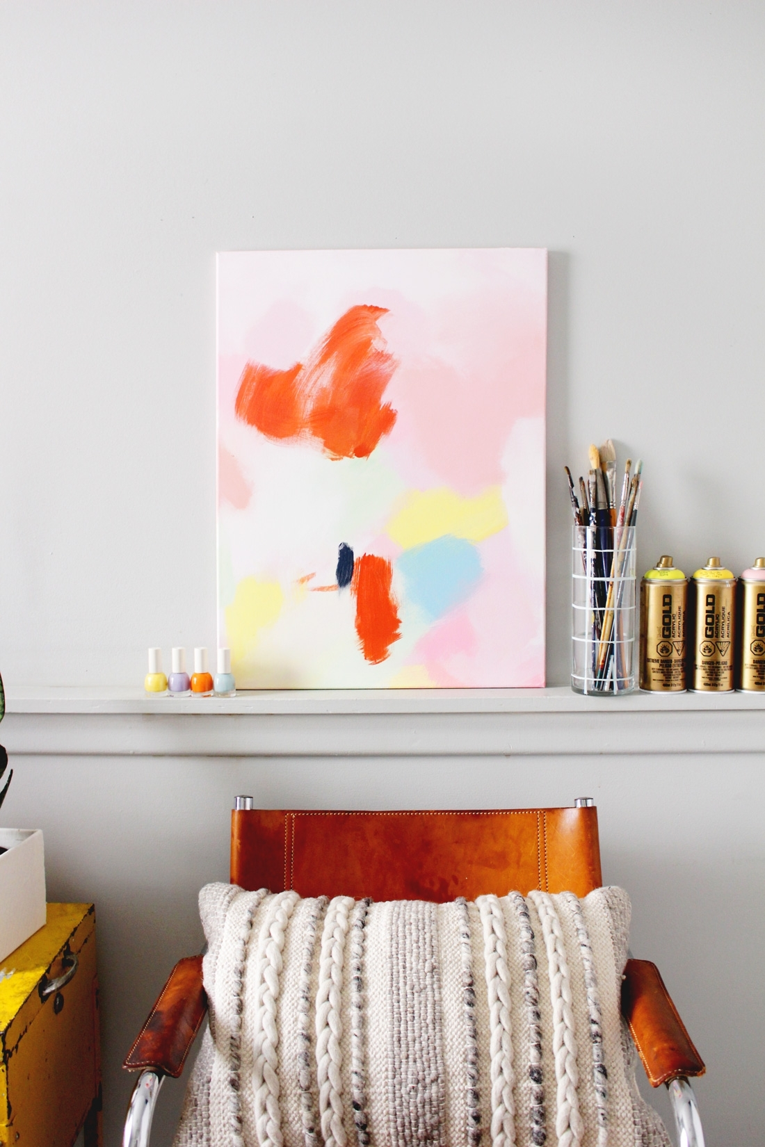 Diy Anthropologie Acrylic Wall Art On Brit + Co | Fish & Bull pertaining to Anthropologie Wall Art (Image 10 of 20)