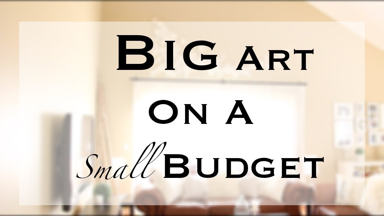 Diy Big/large Wall Art - Youtube intended for Affordable Wall Art (Image 13 of 20)