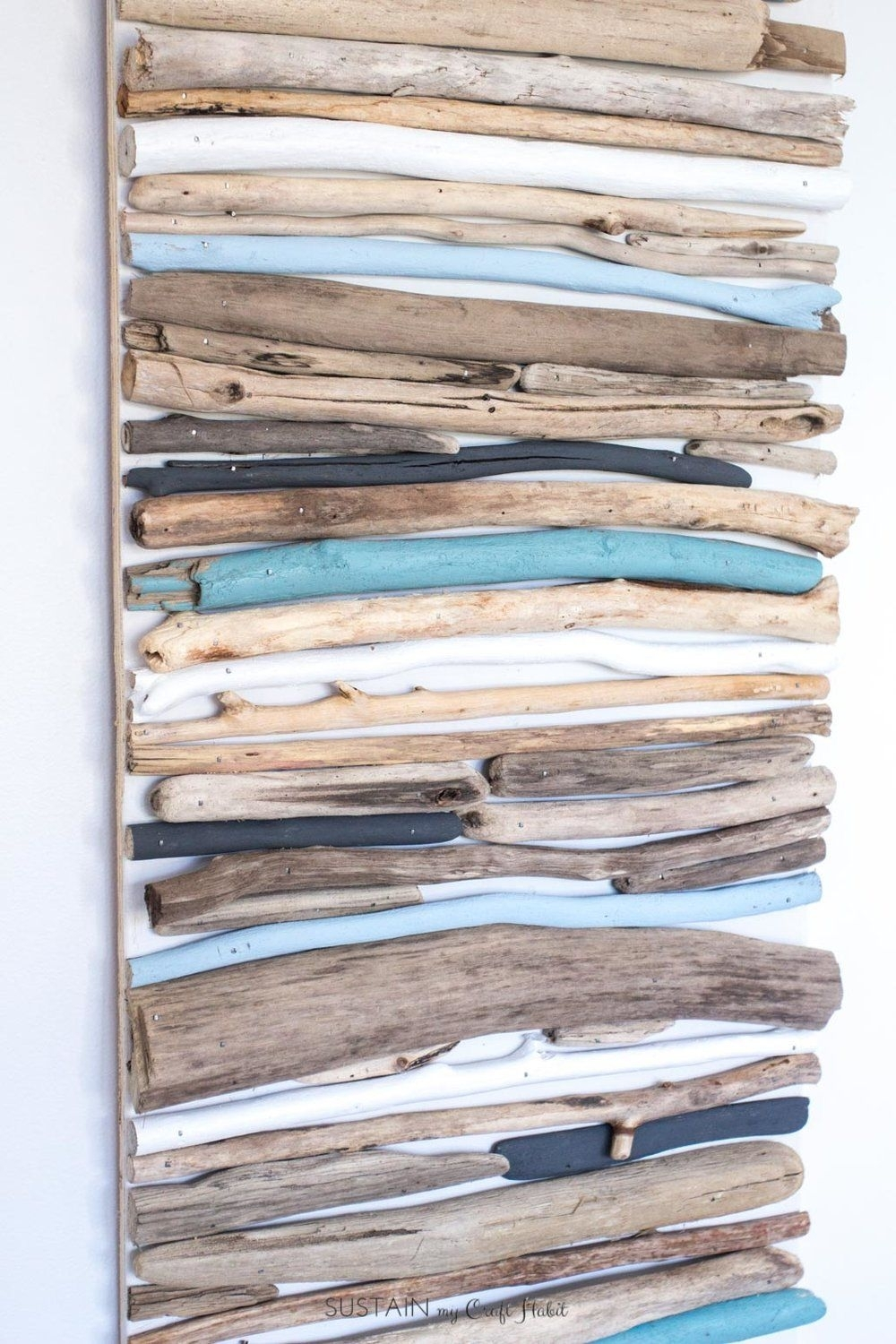 Diy Coastal Decor - Painted Driftwood Wall Art | Crafting Chicks for Driftwood Wall Art (Image 6 of 20)