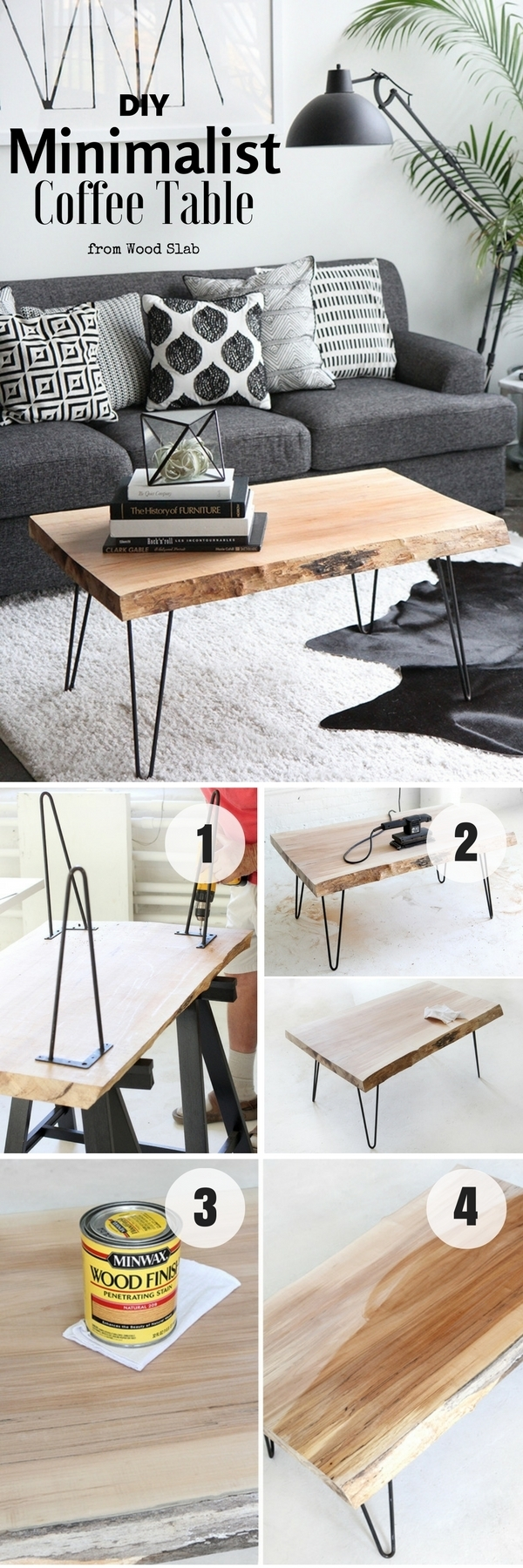 Diy Coffee Table - 40 Easy Ideas You Can Make On A Budget for Jelly Bean Coffee Tables (Image 7 of 30)