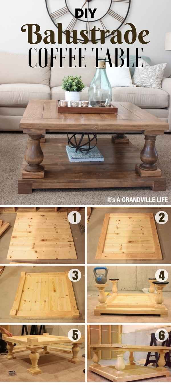Diy Coffee Table - 40 Easy Ideas You Can Make On A Budget within Jelly Bean Coffee Tables (Image 10 of 30)