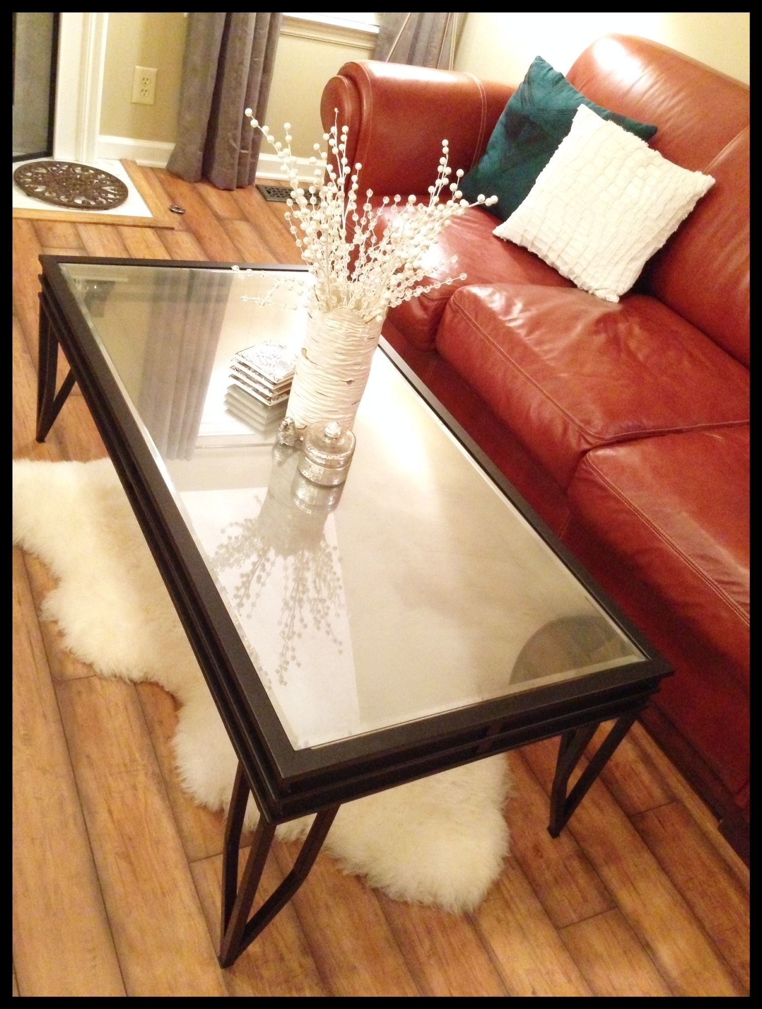 Diy Coffee Table | Www.therefurbishedlife | Turn A Glass Top throughout Jelly Bean Coffee Tables (Image 11 of 30)