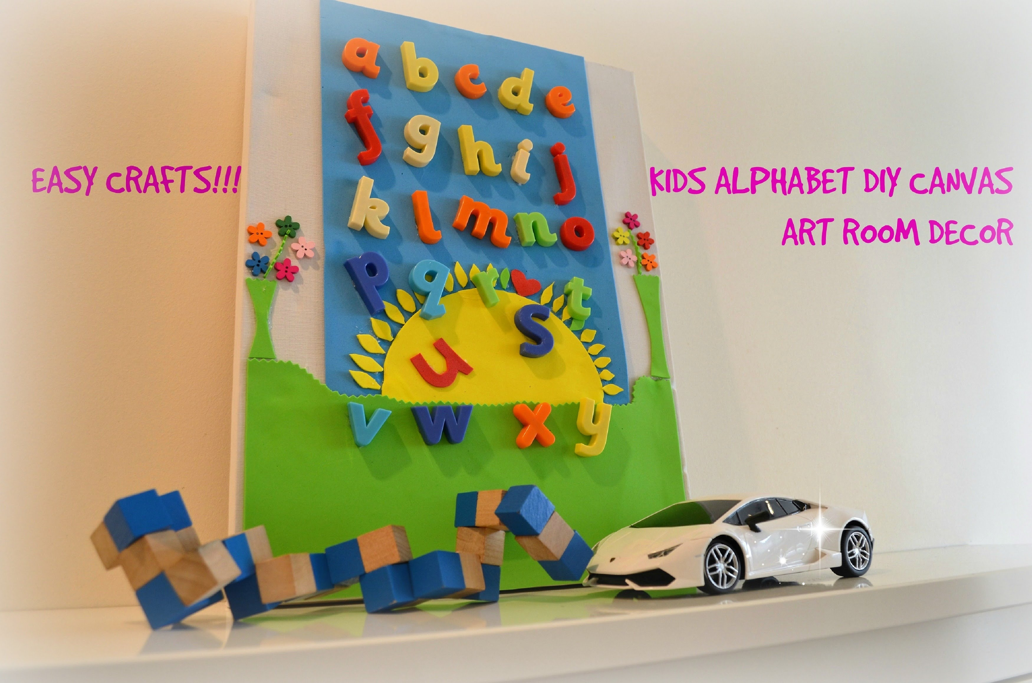 Diy Crafts : Diy 3D Canvas Alphabet Wall Art, Room Decor For Kids regarding Alphabet Wall Art (Image 10 of 20)