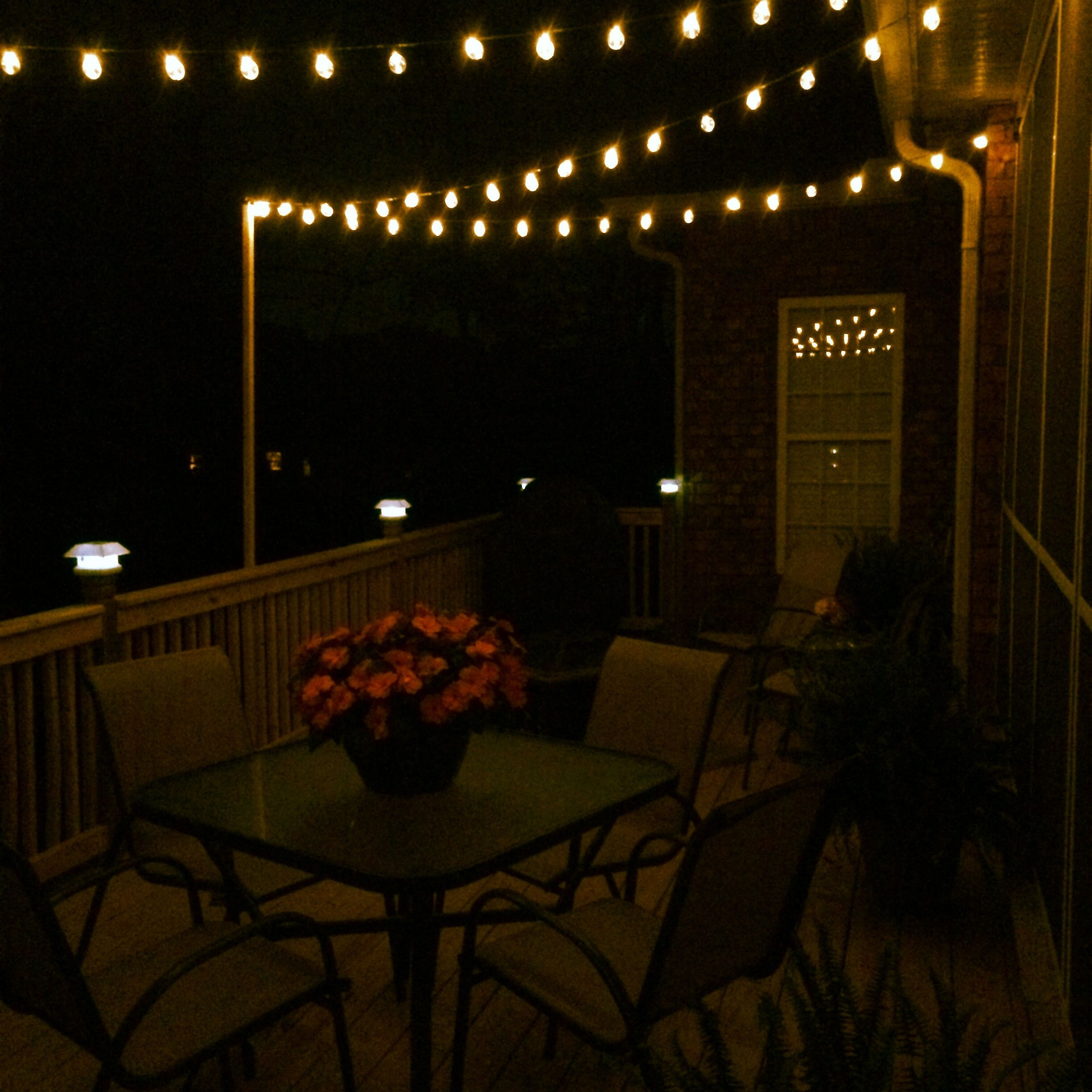 Diy Deck Lighting Using Wooden Poles And S-Hooks | Porch And Deck throughout Outdoor Deck Lanterns (Image 6 of 20)
