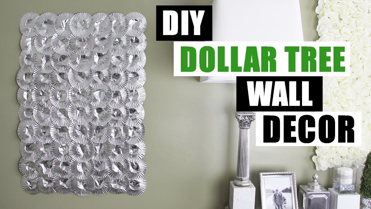 Diy Dollar Tree Silver Wall Decor Diy Home Decor Wall Art – Youtube Throughout Silver Wall Art (View 15 of 20)