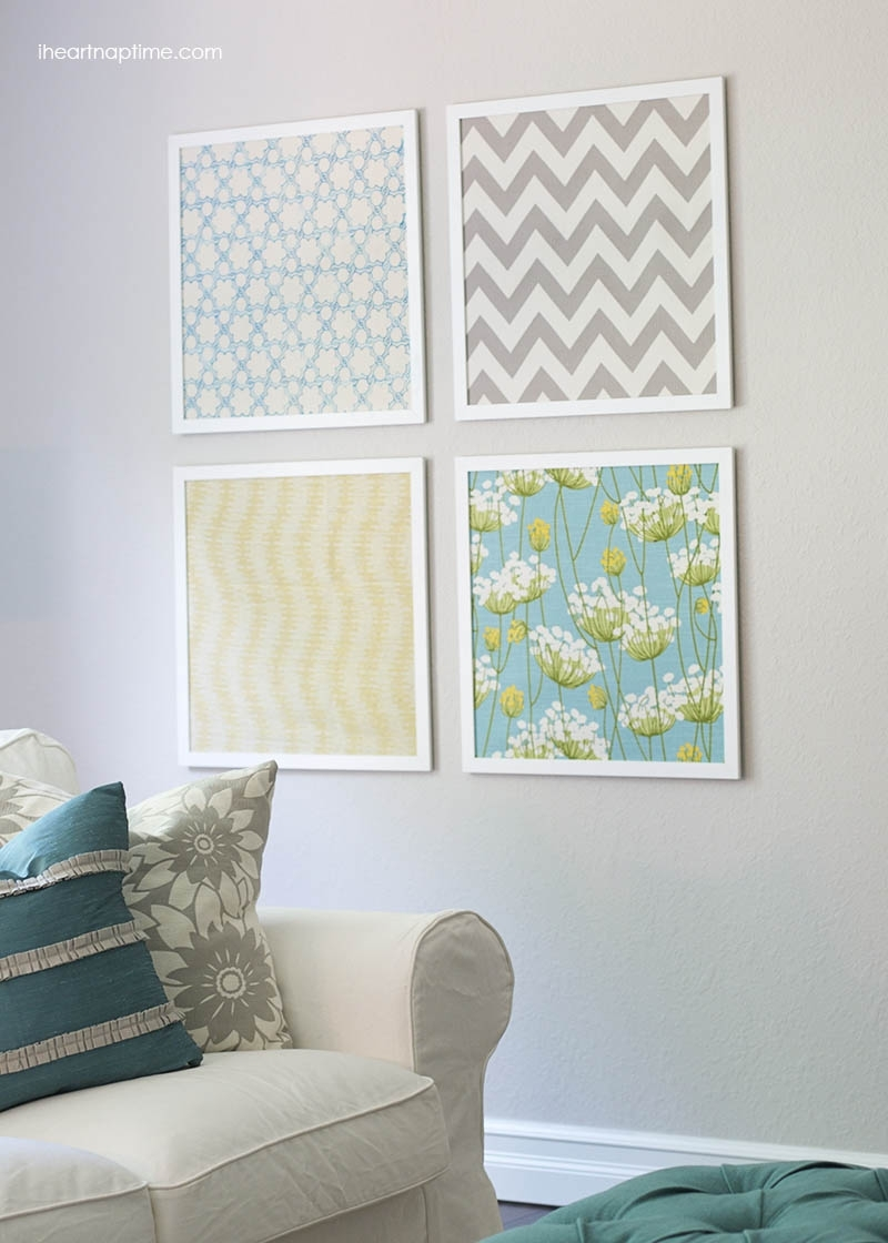 Diy Fabric Art Elegant Fabric Wall Decoration - Home Design And Wall inside Fabric Wall Art (Image 3 of 20)