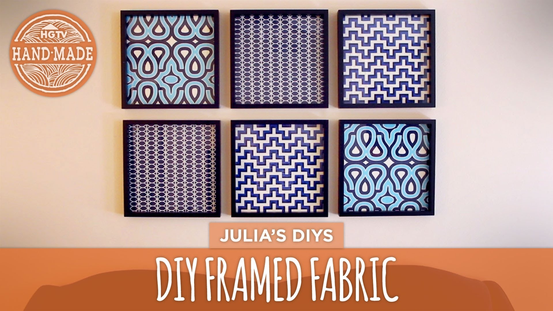 Diy Framed Fabric Gallery Wall - Hgtv Handmade - Youtube intended for Fabric Wall Art (Image 5 of 20)