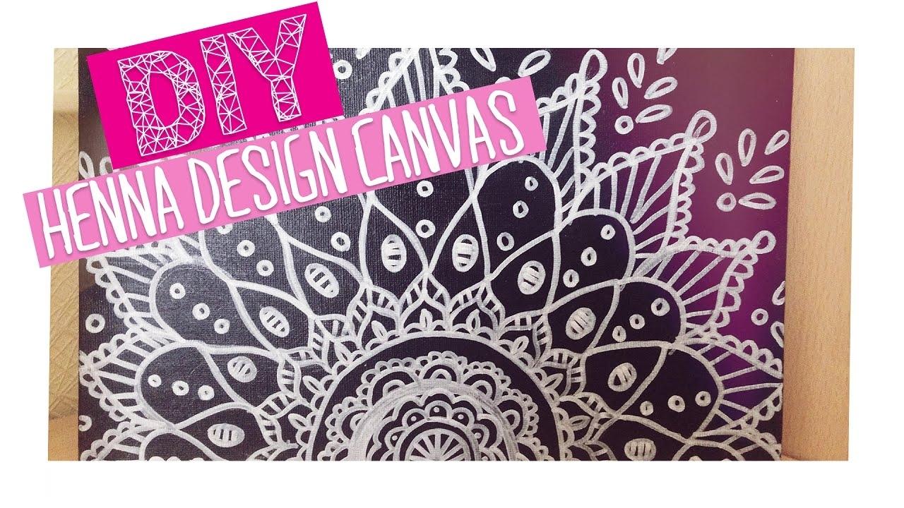 Diy Henna Design Canvas | Room Decor - Youtube regarding Henna Wall Art (Image 6 of 20)