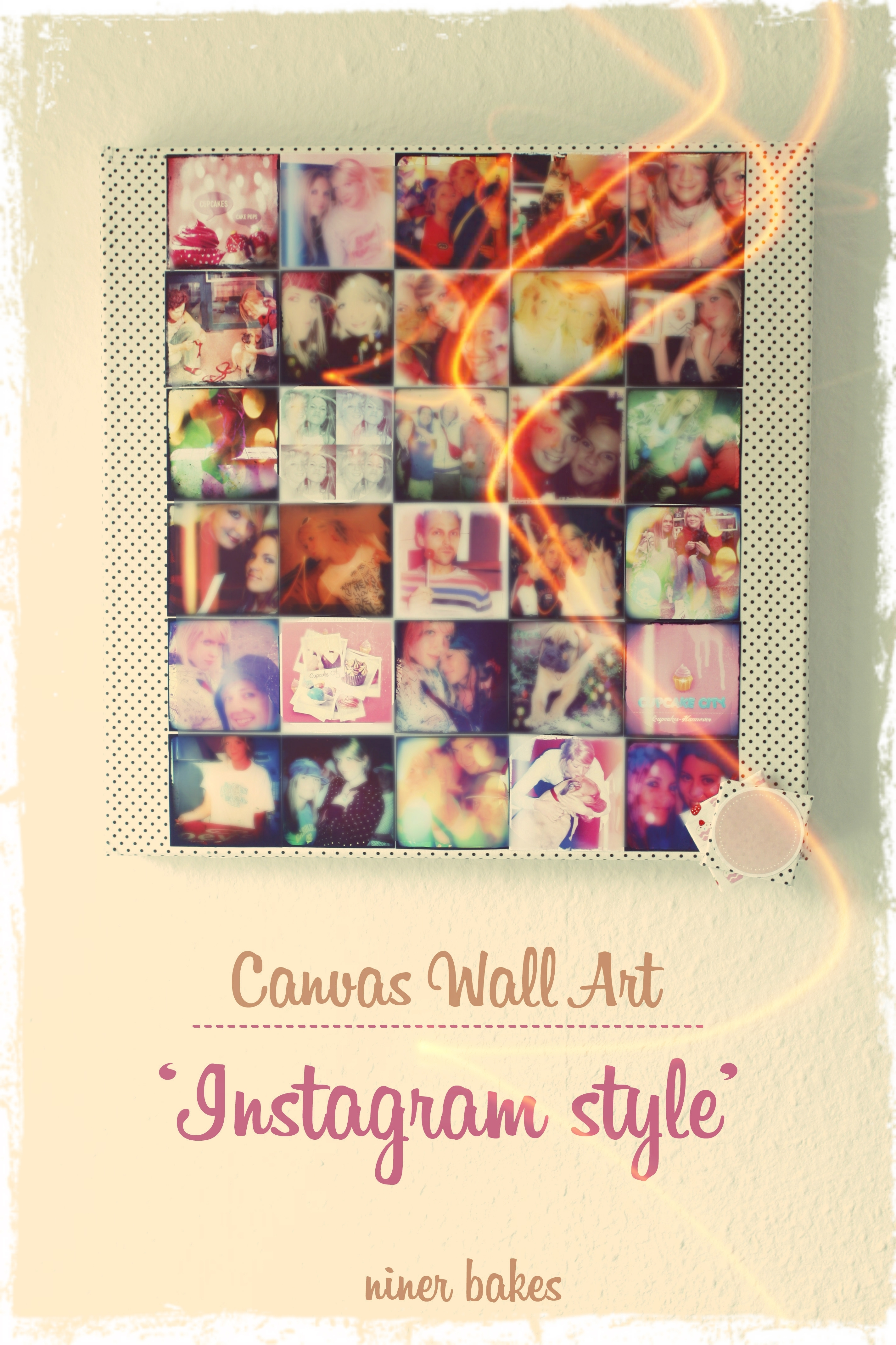 Diy – Instagram Wall Art: Make Your Own Instagram Canvas | Niner Bakes intended for Instagram Wall Art (Image 8 of 20)