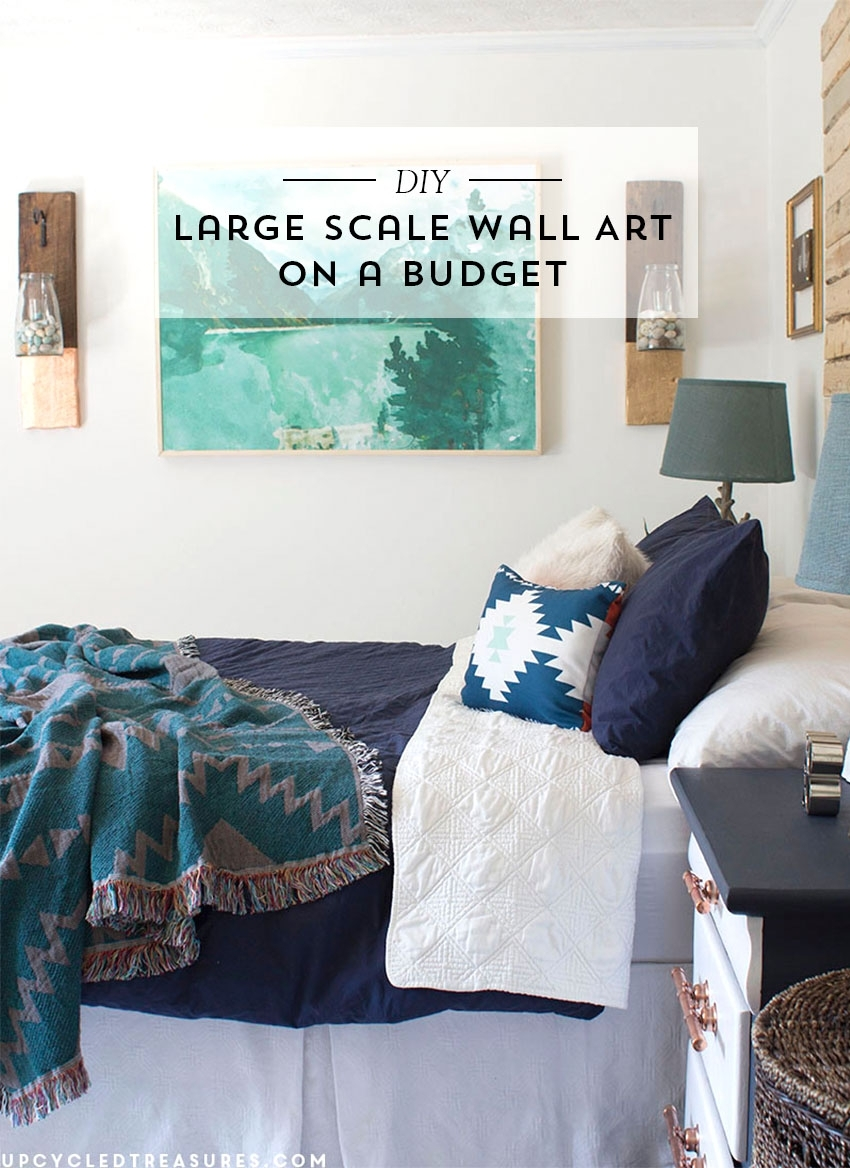 Diy Large Scale Wall Art | Mountain Modern Life pertaining to Cheap Large Wall Art (Image 13 of 20)