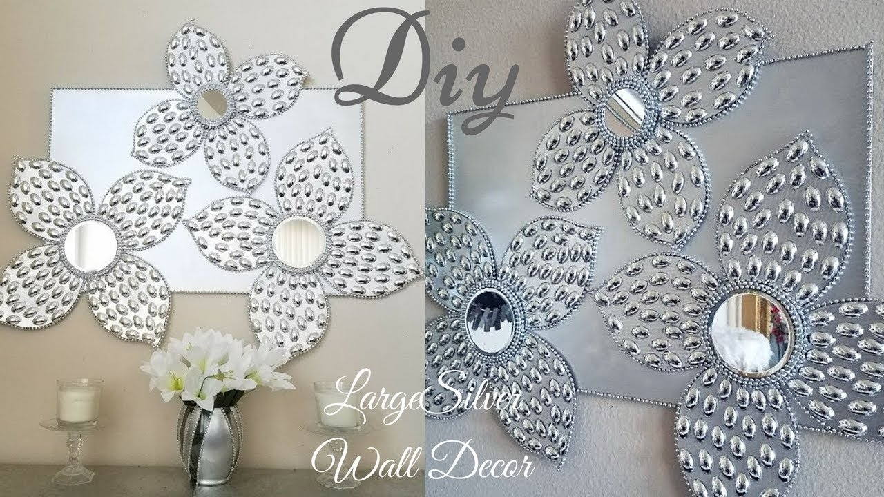 Diy Large Silver Wall Decor Using Dollar Tree Items|simple And Throughout Silver Wall Art (View 9 of 20)