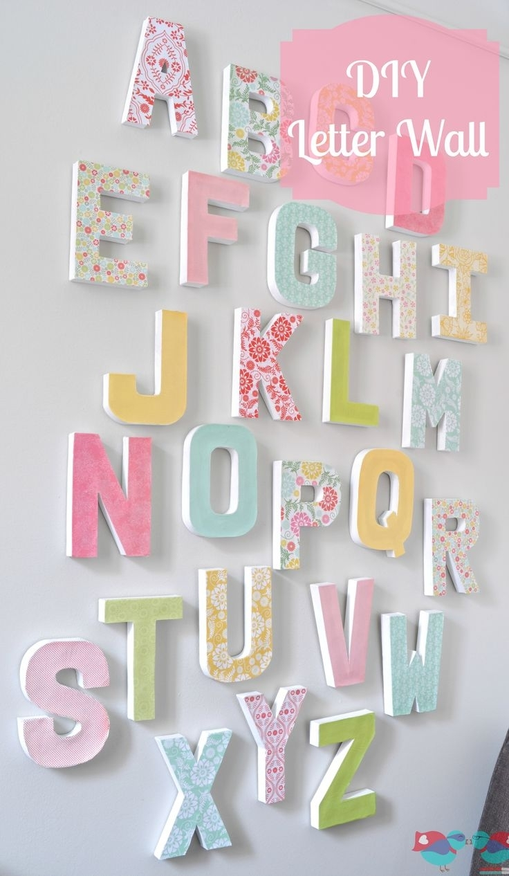 Diy Letter Wall Decor | Craft With Joann | Pinterest | Diy Letters pertaining to Alphabet Wall Art (Image 11 of 20)
