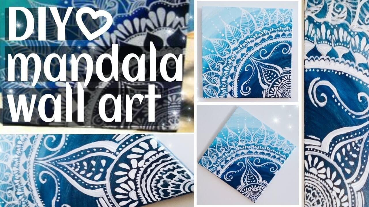 Diy. Mandala Wall Art / Summer Room Decor! - Youtube in Mandala Wall Art (Image 11 of 20)