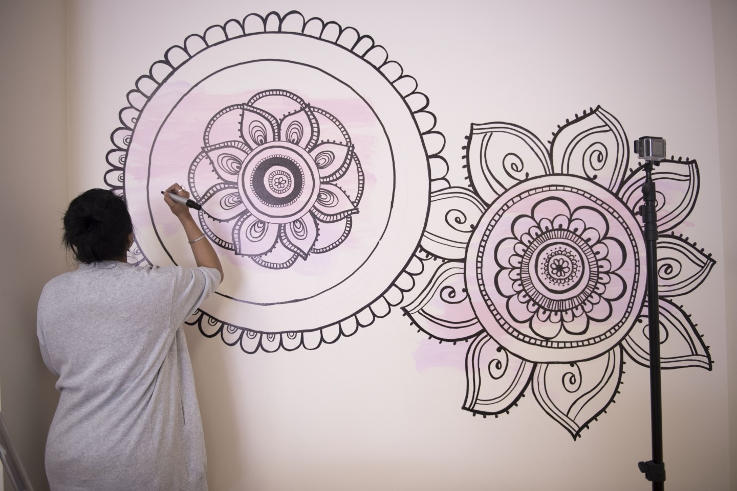 Diy Mandala Wall Art | With A Sharpie And No Stencils! Pertaining To Mandala Wall Art (View 1 of 20)
