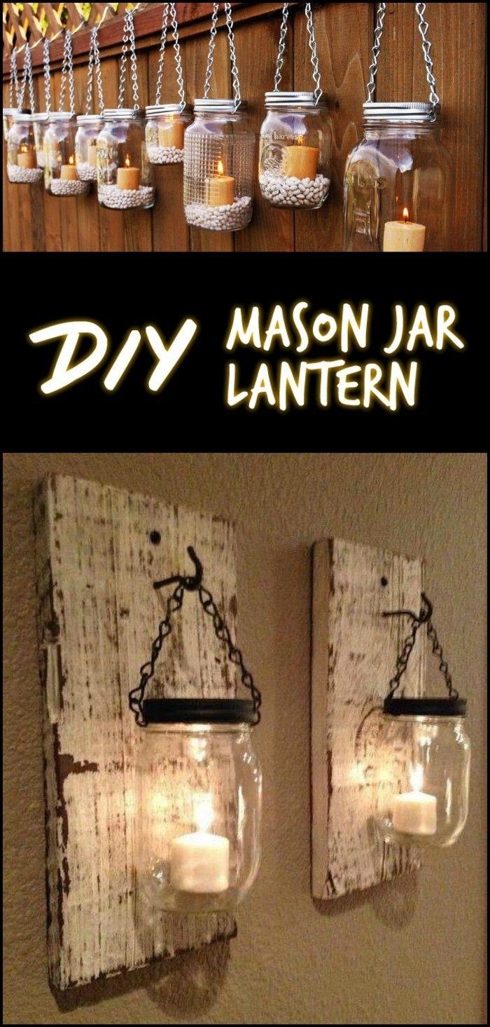 Diy Mason Jar Lantern | Backyard Ideas | Pinterest | Mason Jar within Outdoor Jar Lanterns (Image 4 of 20)