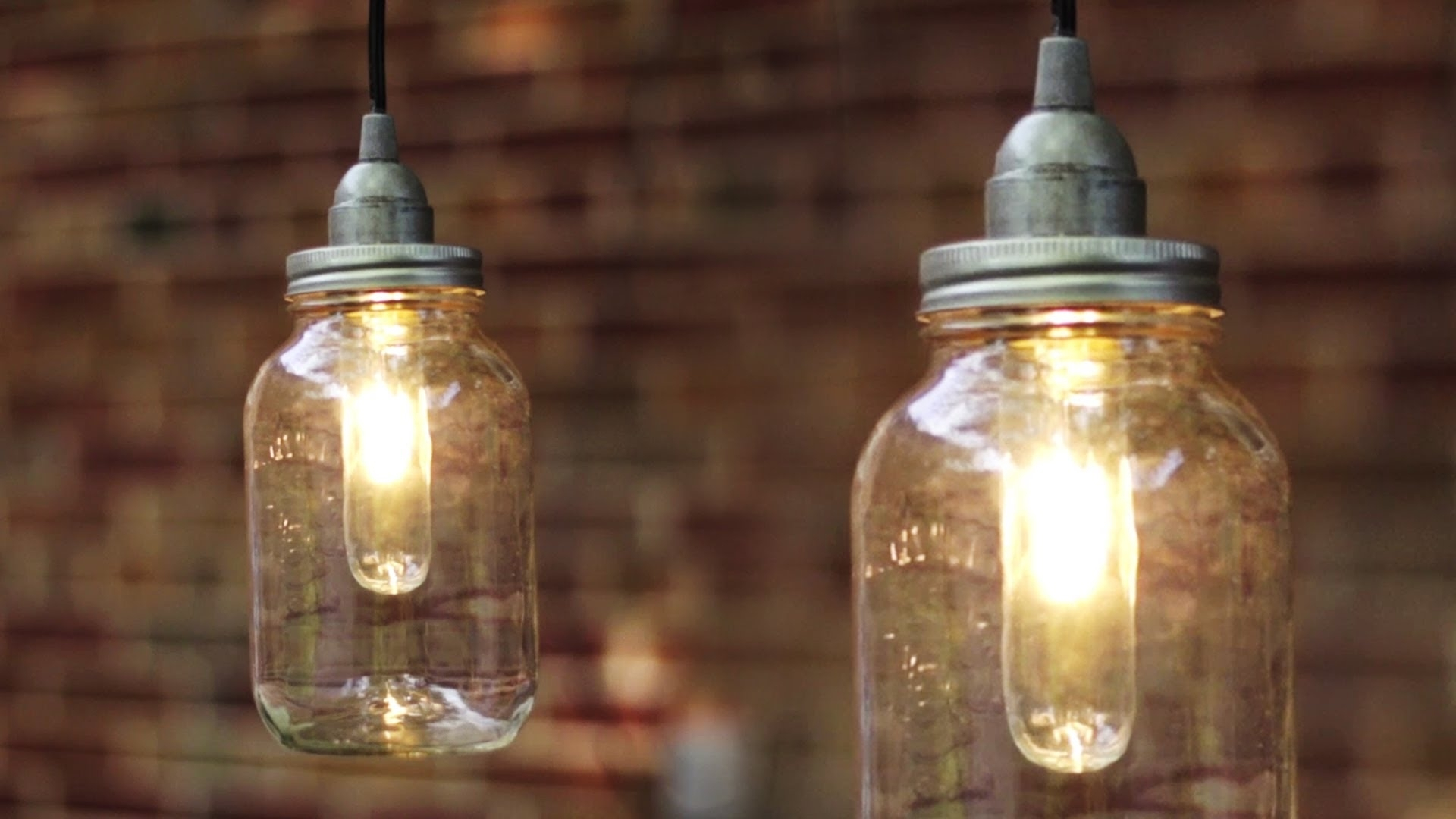 Diy Mason Jar Light / Lantern - Youtube within Outdoor Jar Lanterns (Image 5 of 20)