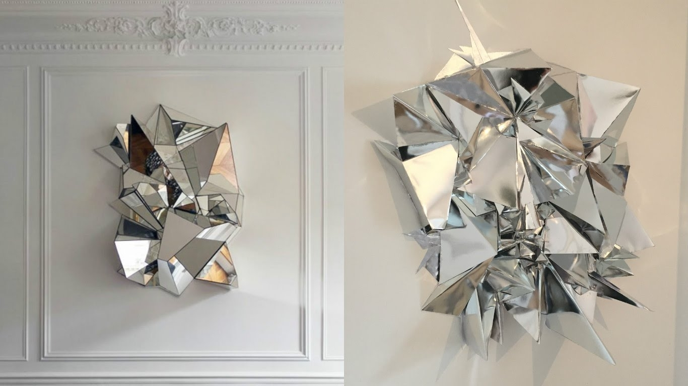 Diy Mirrored Geometric Mosaic Wall Art – Youtube With Regard To Mirrored Wall Art (View 18 of 20)