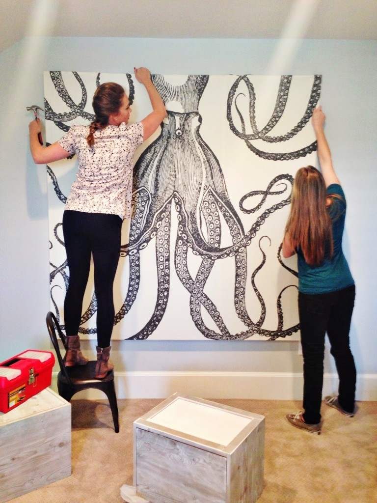 Diy Octopus Art - House Of Jade Interiors Blog with Octopus Wall Art (Image 5 of 20)