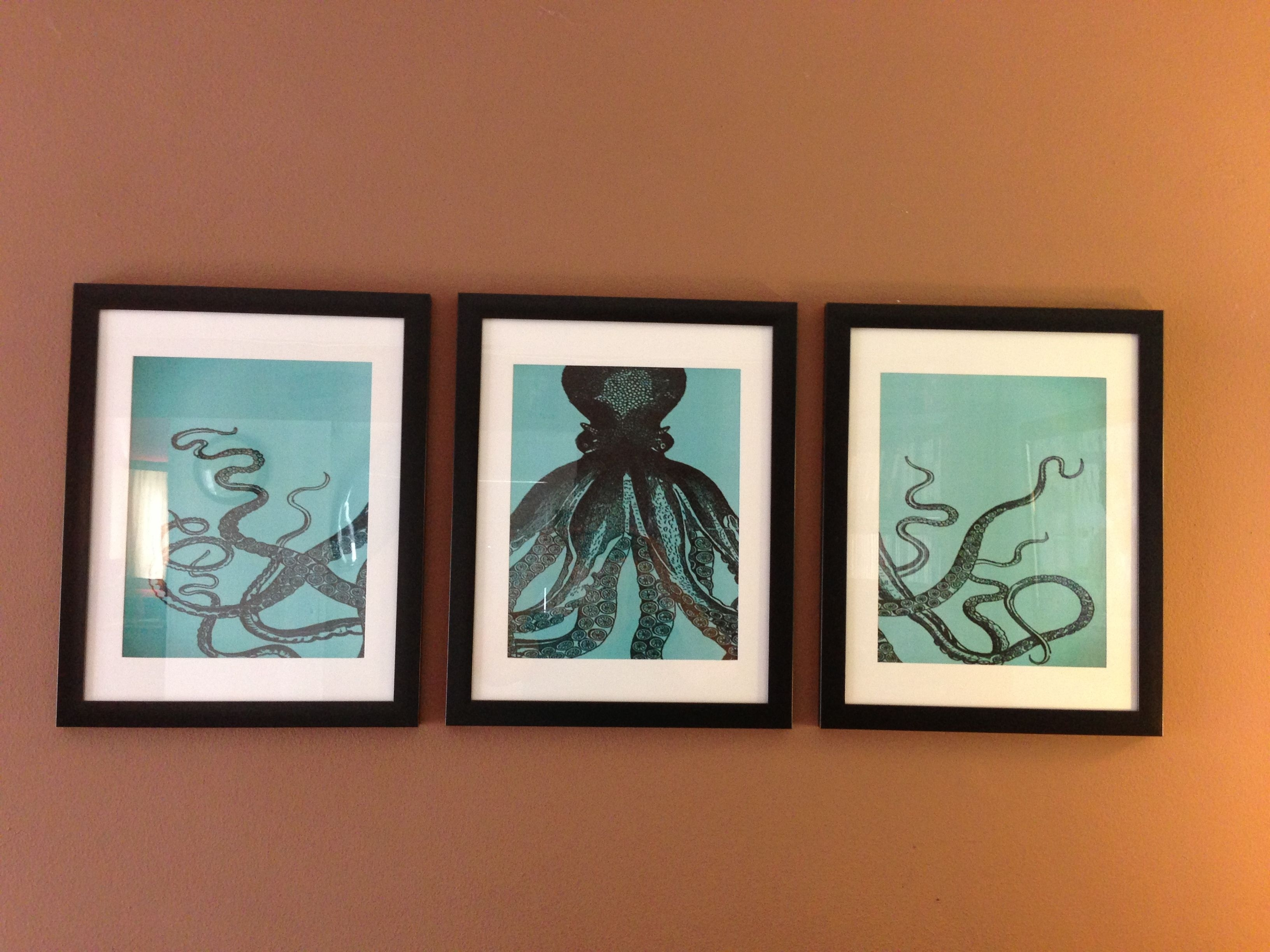 Diy Octopus Wall Art I Made. Cost Under $30----For Over The Bed in Octopus Wall Art (Image 6 of 20)