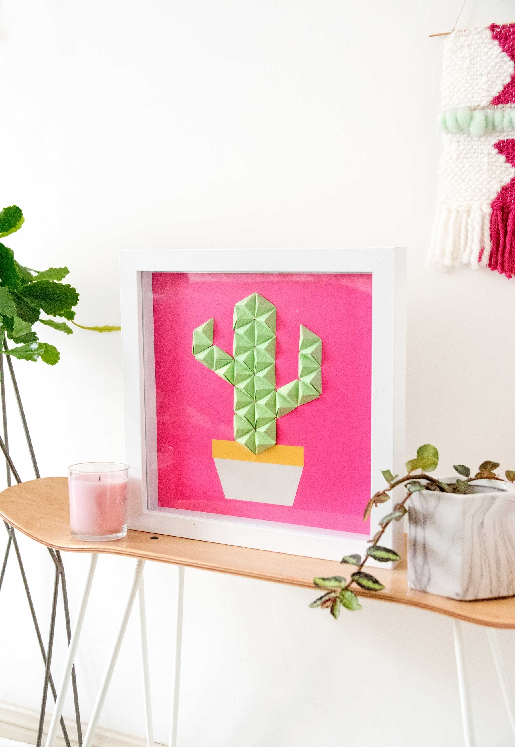 Diy Origami Wall Art For Curbly – Make And Tell intended for Cactus Wall Art (Image 11 of 20)