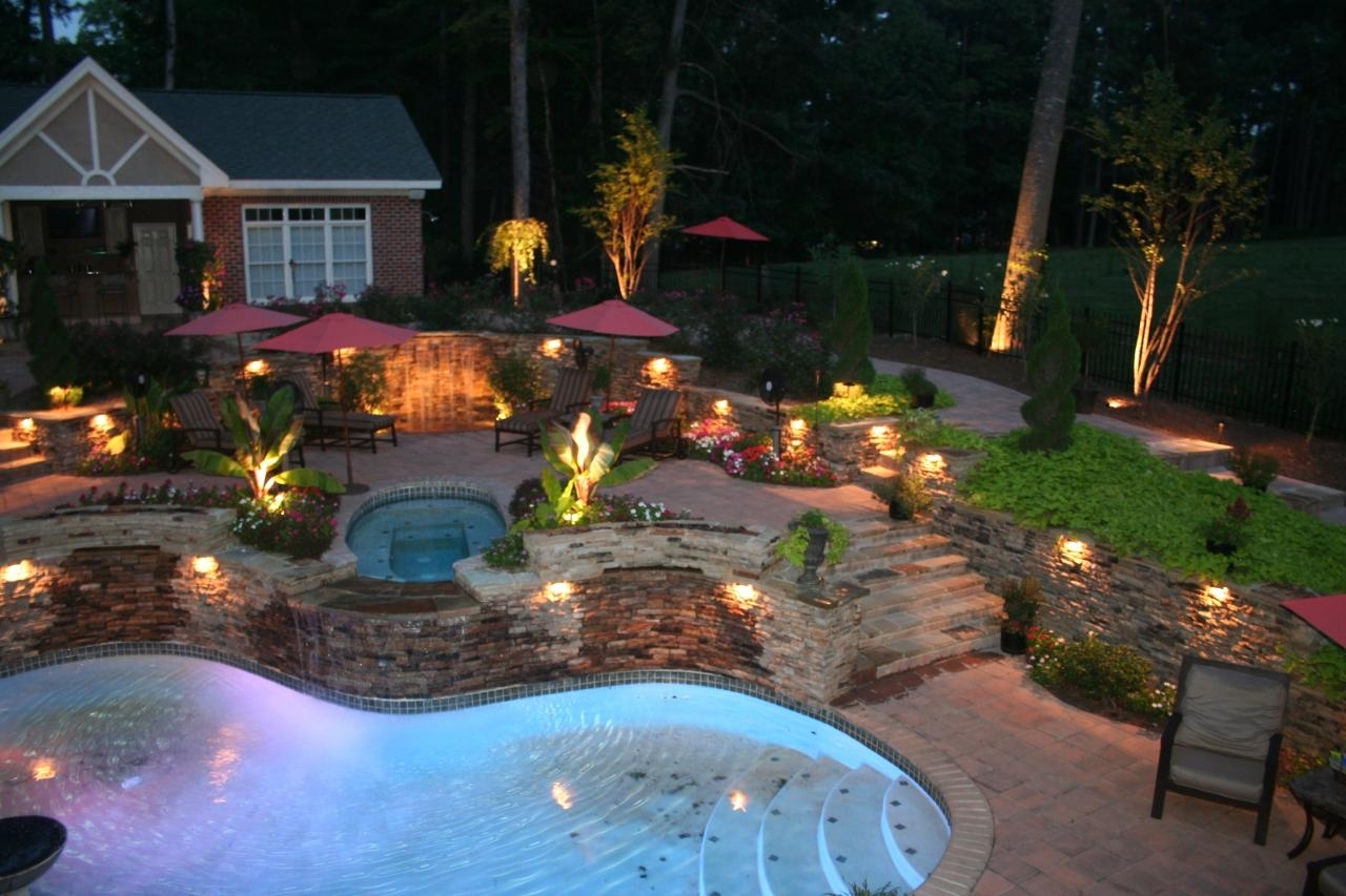 Diy Outdoor Landscape Lighting Hanging Lanterns Ideas Pictures regarding Outdoor Pool Lanterns (Image 13 of 20)