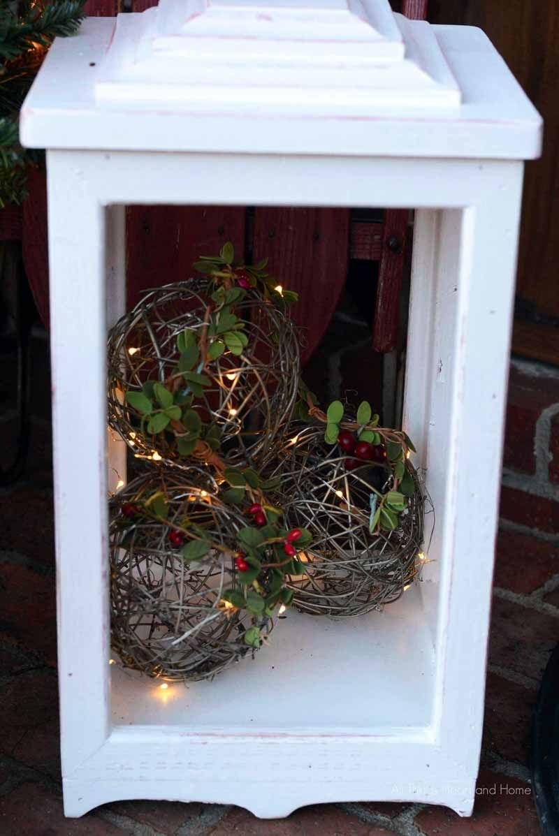Diy Outdoor Lanterns | Christmas | Pinterest | Behr, Giveaway And for Diy Outdoor Lanterns (Image 13 of 20)