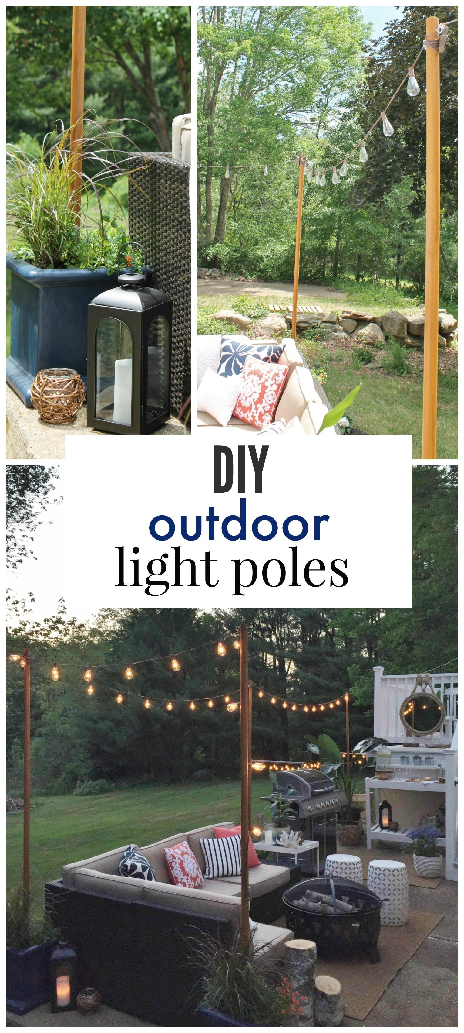 Diy Outdoor Light Poles – City Farmhouse With Regard To Diy Outdoor Lanterns (View 11 of 20)