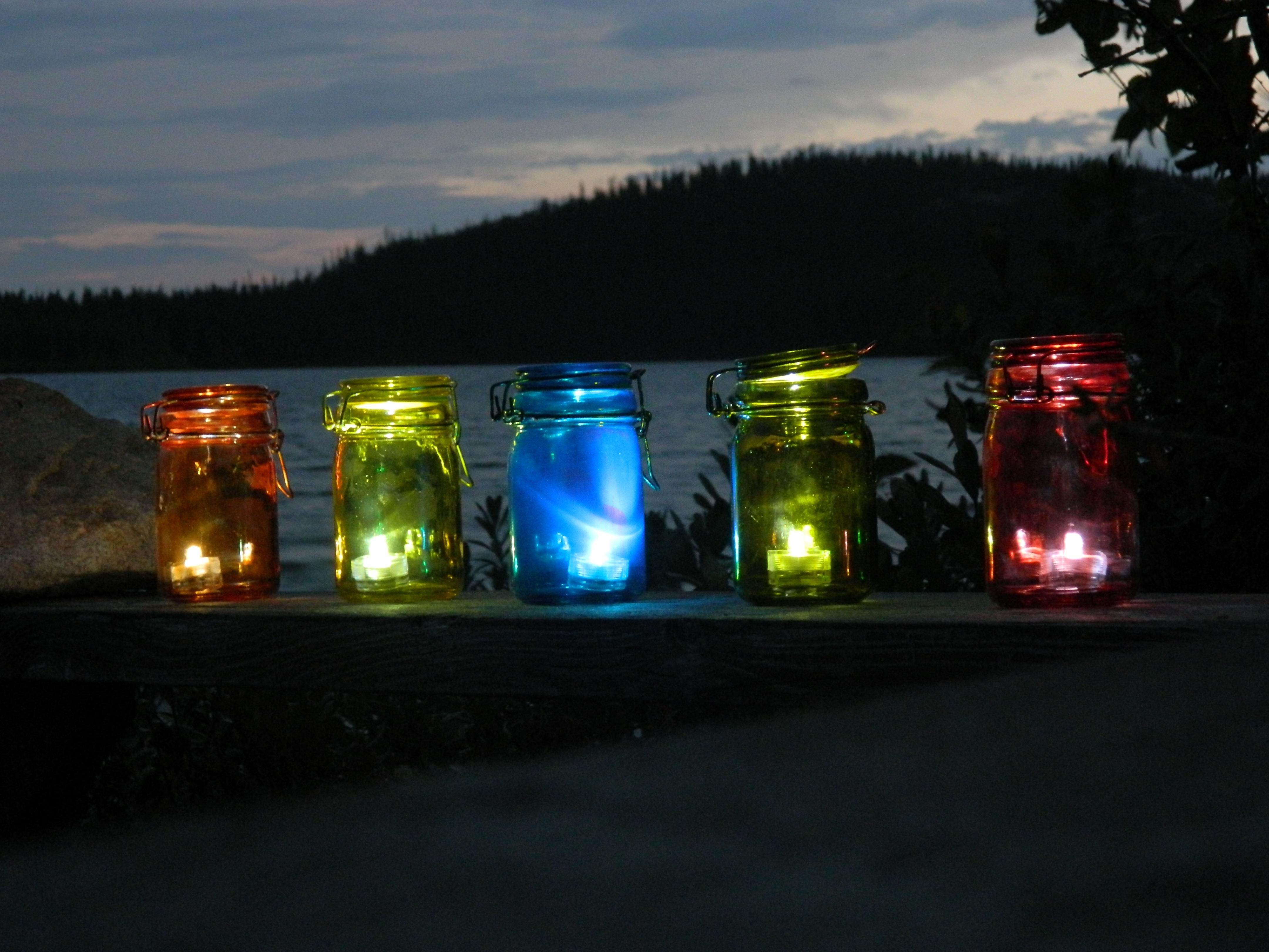 Diy Outdoor Tea Light Lanterns | A Little Bit Of Glass inside Outdoor Jar Lanterns (Image 6 of 20)