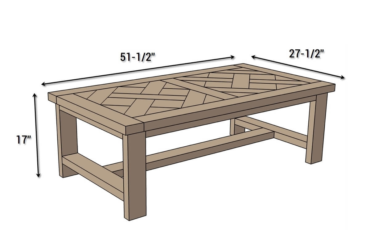 Diy Parquet Coffee Table { Free Plans } Rogue Engineer For Parquet Coffee Tables (View 10 of 30)