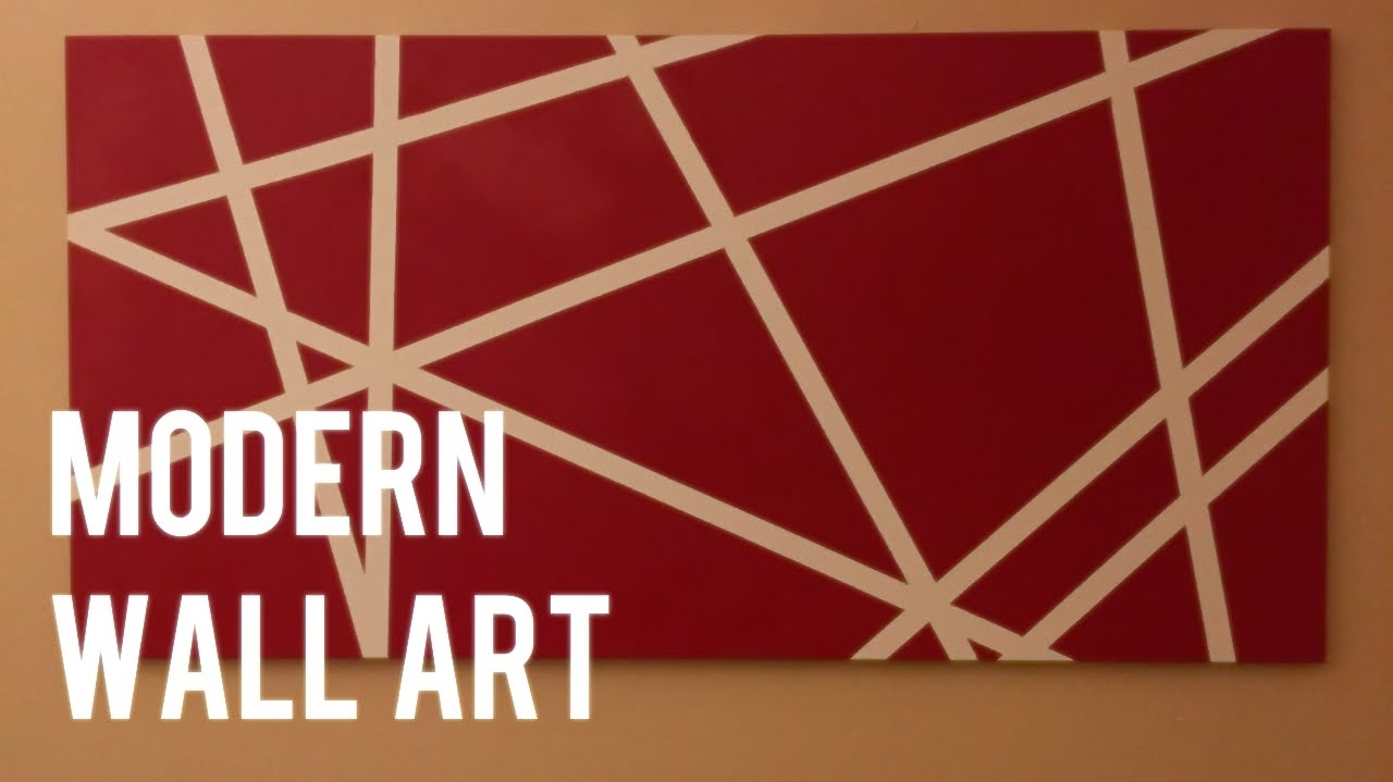 Diy Quick And Easy Modern Wall Art On Canvas - Youtube throughout Modern Wall Art (Image 8 of 20)