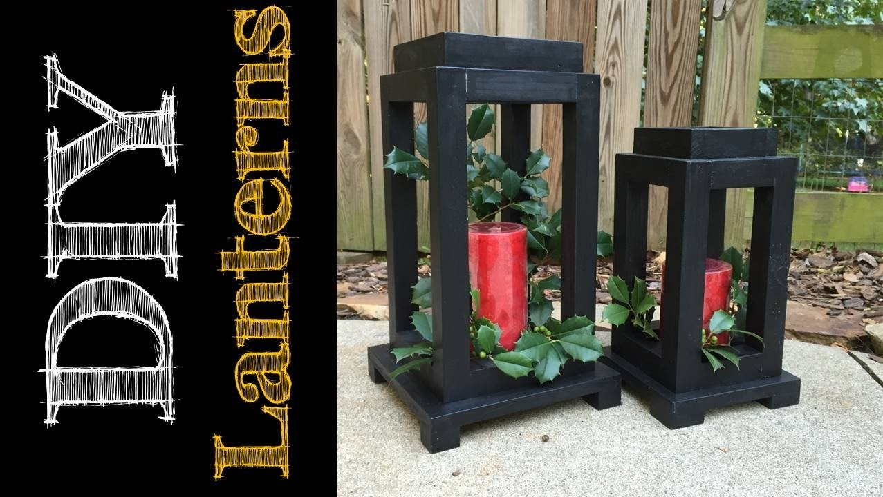 Diy Rustic Wooden Lanterns (Cmrw#49) - Youtube in Outdoor Wood Lanterns (Image 4 of 20)