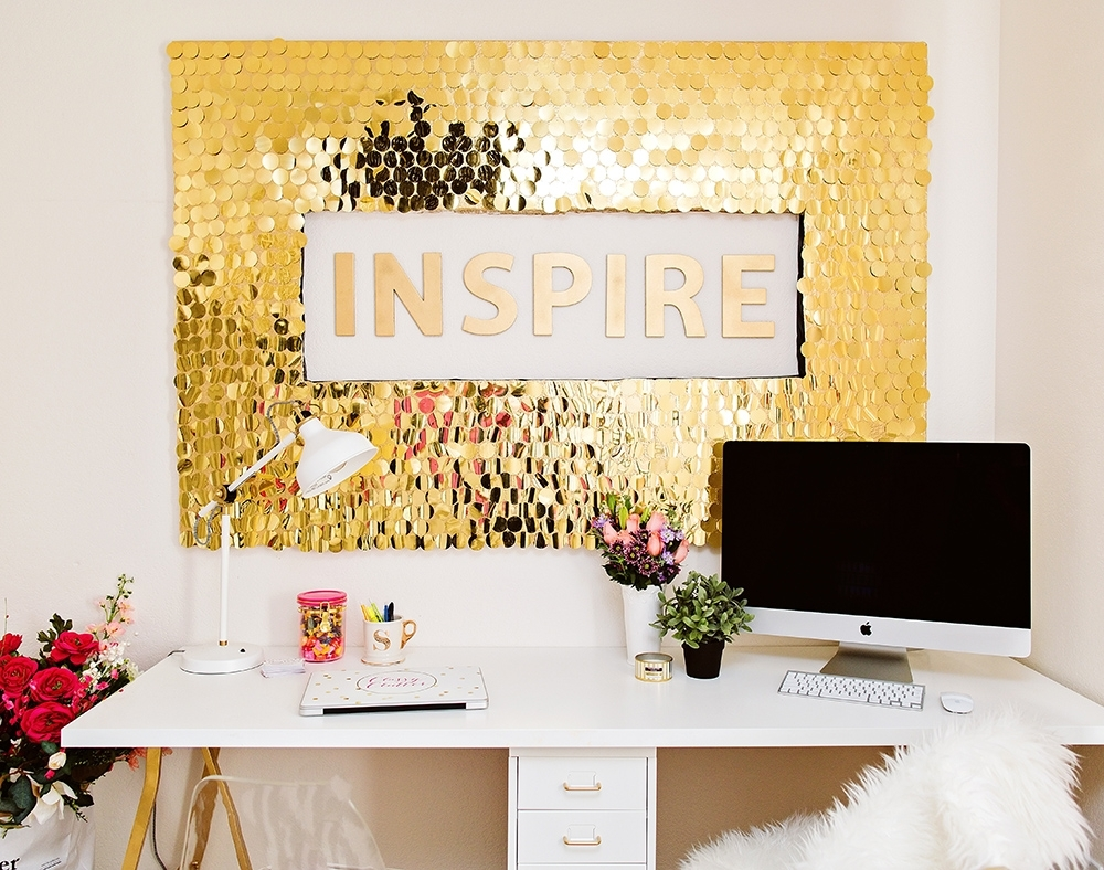 Diy Sequins Wall Art with regard to Art Wall Decors (Image 10 of 20)