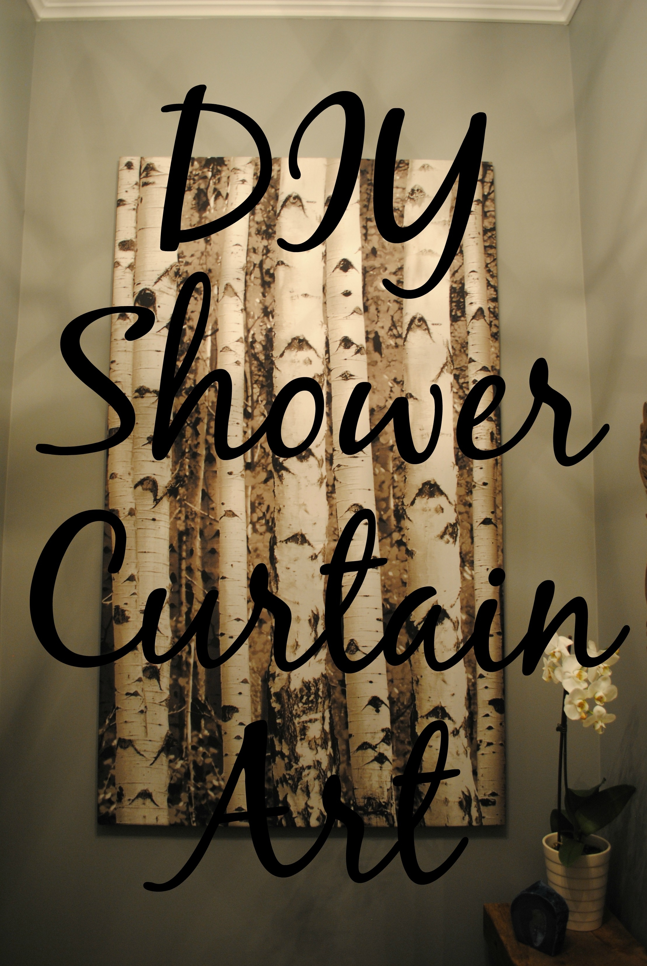 Diy Shower Curtain Art | Tixeretne for Shower Curtain Wall Art (Image 8 of 20)